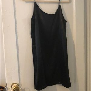 Urban Outfitters Silky black slip dress